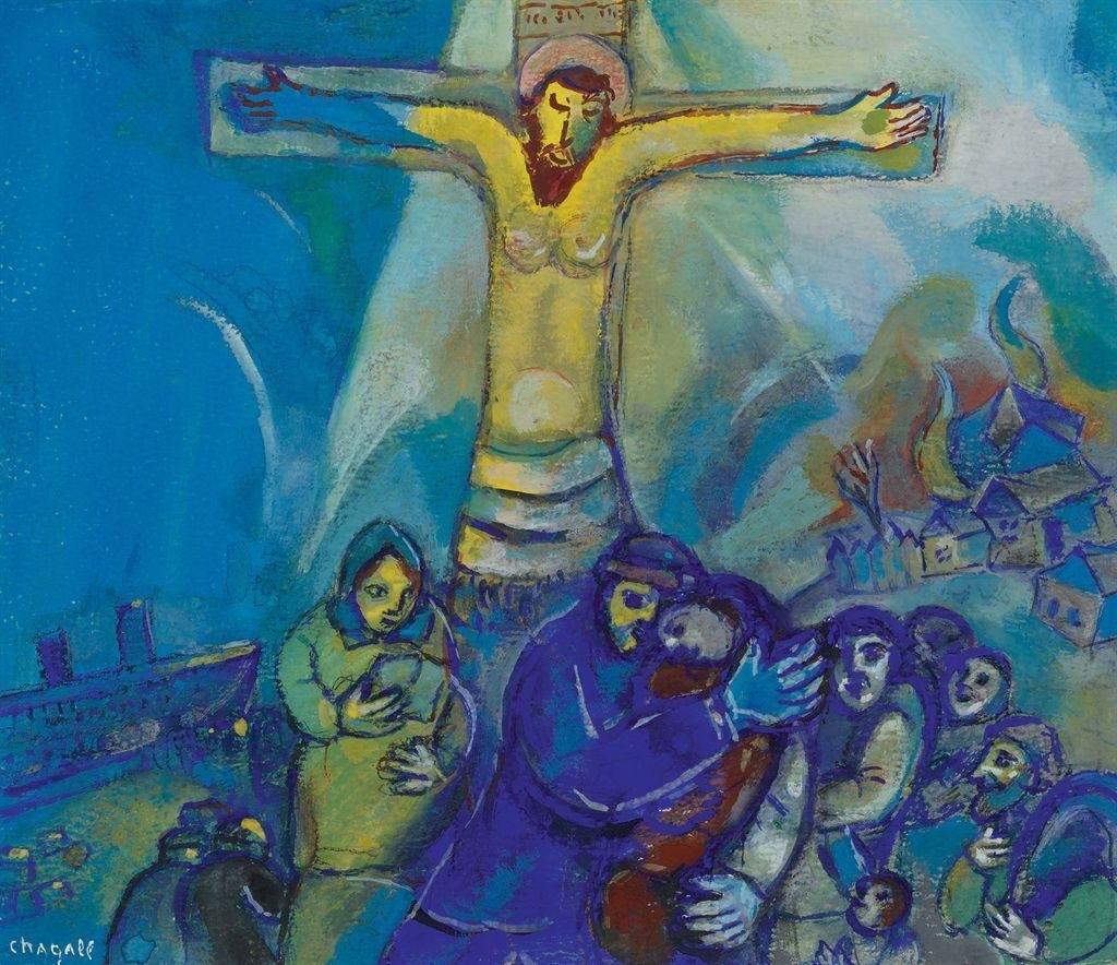 Марк Шагал. Христос в желтом свете