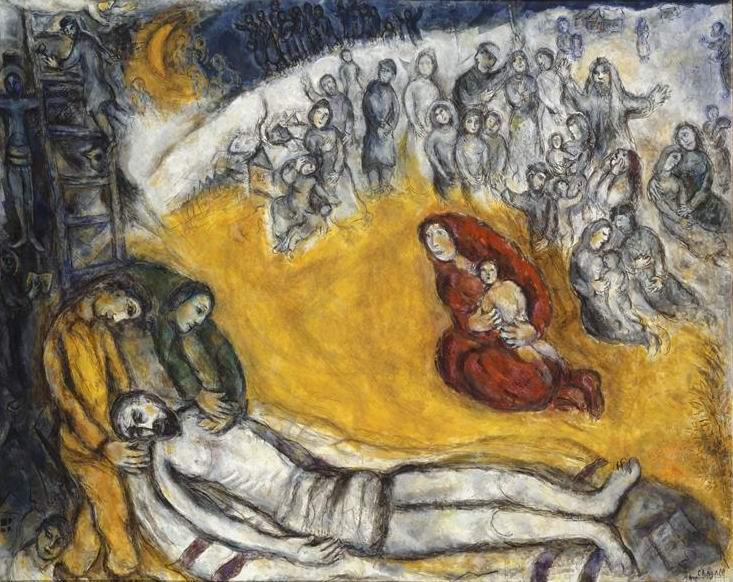 Марк Шагал. Снятие с креста