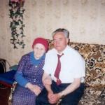 Бывшие узники гетто: Фаина Грубер и Аркадий Вайнер (1998 г., г.Староконстантинов)